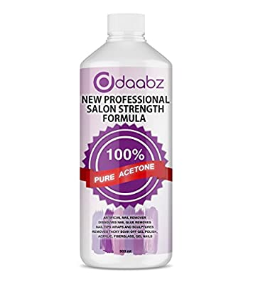100% Pure Acetone Salon Quality Nail Polish Remover UV/LED GEL Soak Off 500 ML