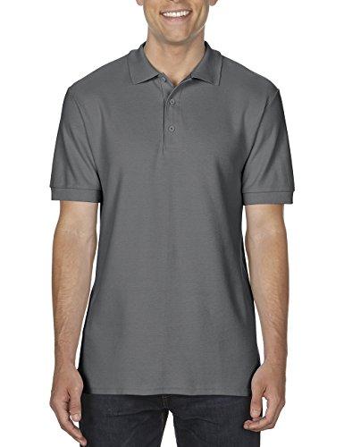 GILDAN Herren Poloshirt Adult Premium Cotton Double Piqué Polo/85800, Einfarbig Grau (Charcoal 42)