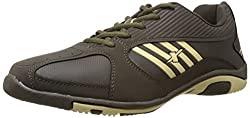 Sparx Mens Olive and Beige Mesh Running Shoes - 7 UK (SX0204G)
