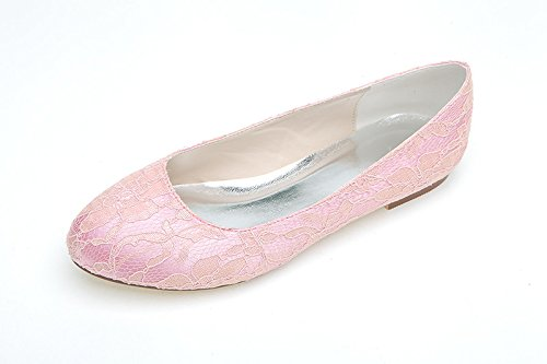 Pizzo Donna Scarpe Heavy Pants Sandal Flat Bottom Lace Pink