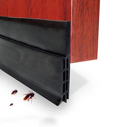Tür-boden-dichtung (hunpta unter Tür Sweep Wetter Abisolieren Tür Boden Dichtung Strip Tür Draft Stopper schwarz)