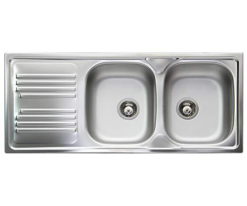 Lavello cucina incasso Apell Atmosfera acciaio Inox .116x502 vasche destra