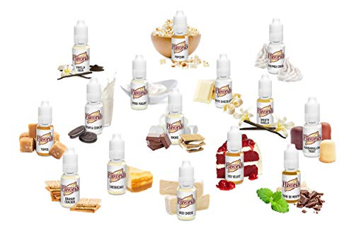 Flavorah Flavour Concentrate for E Liquid FLV | Quality DIY Vape | Assortment Packs (Dessert)