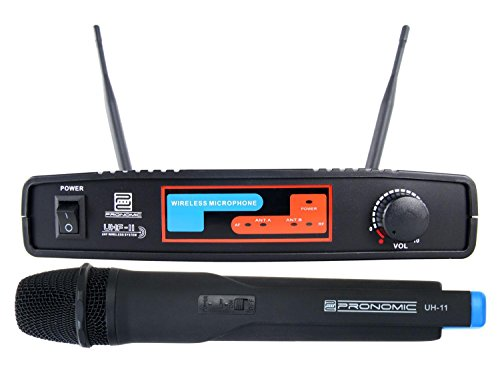 Pronomic UHF-11 Funk-Bühnenmikrofon UHF-Funkmikrofon-Set 827,5 MHz (Handmikrofon, XLR-Mikrofon-Ausgang, 1-Kanal) schwarz
