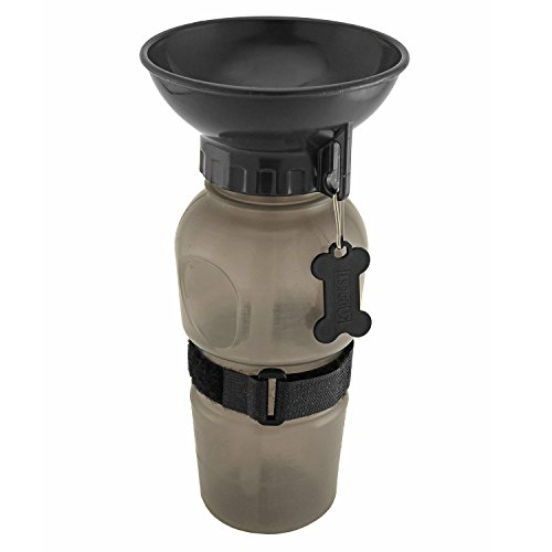 UBEST Trinkflasche für Hunde, Kunststoff Wassernapf, ca. 560ml Trinknapf, Grau