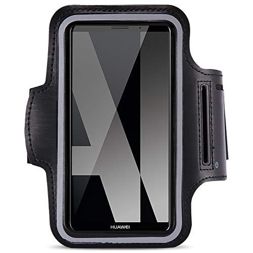 Jogging Tasche kompatibel für Huawei Mate 10 Lite Handy Hülle Sportarmband Fitnesstasche Lauf Case, Farben:Schwarz Htc Dual-band