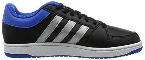 Adidas Hoops Vs, Scarpe da Basket Uomo Multicolore (Negro / Plateado / Azul (Negbas / Plamat / Azul))
