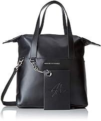 Idea Regalo - ARMANI EXCHANGE Small Shopping Bag - Borse a spalla Donna, Nero, 29.0x12.0x44.0 cm (B x H T)