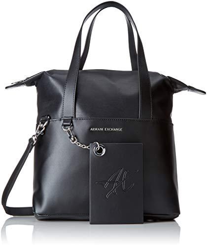 ARMANI EXCHANGE Small Shopping Bag - Borse a spalla Donna, Nero, 29.0x12.0x44.0 cm (B x H T)