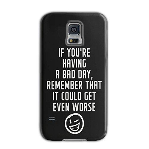 Optimistisch Sprichwort Komisch Winky Smiley Schwarz 3D Samsung Galaxy S5 Fall | Wellcoda