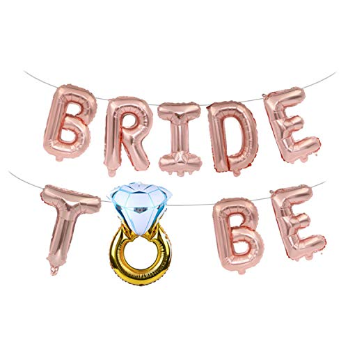 16 Zoll Jumbo Bride to Be Brief Banner Luftballons für Junggesellenabschied Hochzeit Duschen Hen Party Dekoration Lieferungen Rose Gold