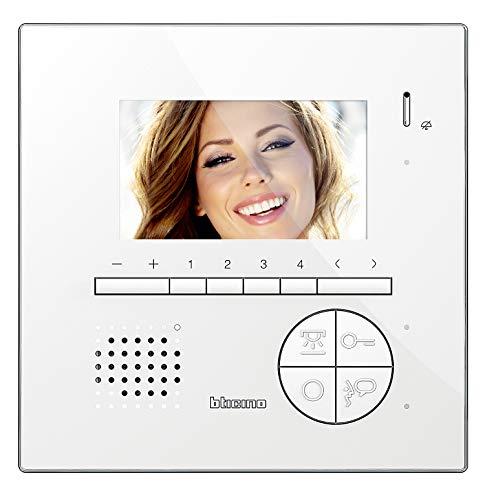 Immagine di Bticino 344522 Videocitofono 2 Fili Vivavoce a Colori con Teleloop, Bianco
