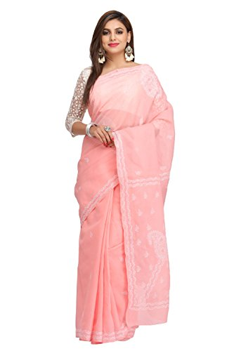 ADA Handcrafted Lucknow Chikankari Womens Casual Wear Cotton Saree A192078