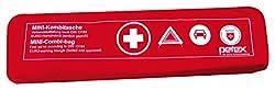Petex 43999712 Kombitasche p l u s mit Klettband best. aus EURO-Warndreieck, Verbandstofffüllung und Sicherheitsweste, rot