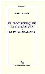 Peut-on appliquer la littérature à la psychanalyse?