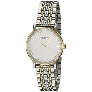 Tissot Reloj Analógico para Mujer de Cuarzo con Correa en Acero Inoxidable T1092102203100