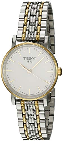 Tissot Damen Analog Quarz Everytime Small Armbanduhr mit Edelstahl Armband T1092102203100
