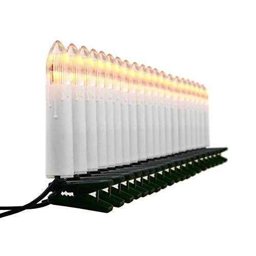 Nipach GmbH 20er LED Lichterkette Baumbeleuchtung Christbaumkerzen warmweiß Weihnachtsbaumkerzen Weihnachtsbaumlichter Weihnachtsbaumbeleuchtung Weihnachtsdeko grünes Kabel Xmas