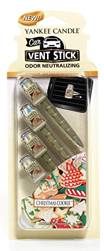 1Pack (4Lufterfrischer) Offizielles Yankee Candle Car Vent Sticks, Lufterfrischer Christmas Cookie Ostern-advent-kalender