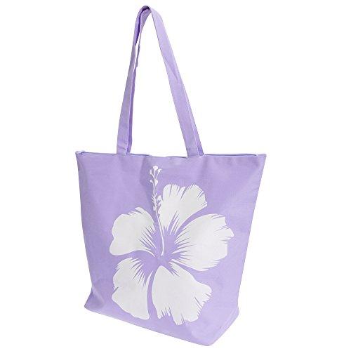 FLOSO - Borsa a Spalla fantasia floreale hawaiana - Donna Rosa