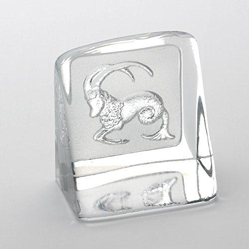 Steinbock-Briefbeschwerer-Gewächshaus Buch Kristall Herstellung Schweden, Sternzeichen-Zodiac Collection By The Christian Bounaix ©