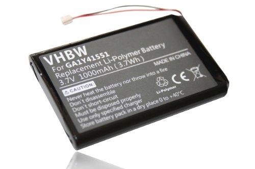 vhbw Batteria 1000mAh (3.7V) per Palm Tungsten E2 E 2 PALMONE.