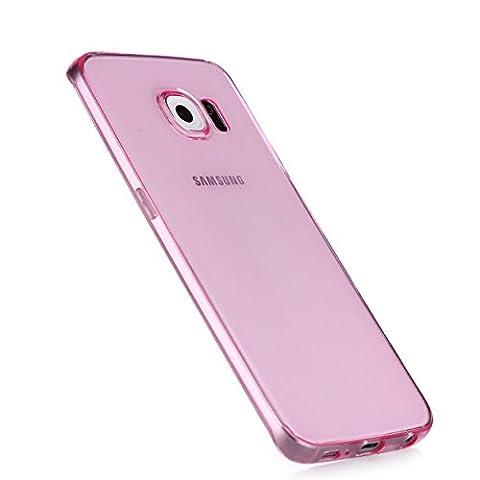 Liamoo dünne rundum TPU Schutzhülle für Samsung Galaxy S6 edge pink