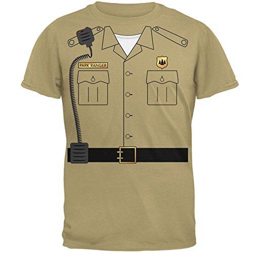 Forest Park Ranger Kostüm Herren-T-Shirt Tan MD (Halloween Forest Park)