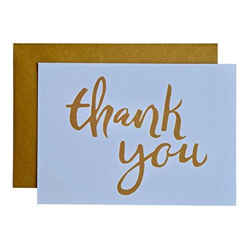 Thank You Karten + farbigen Umschläge: 20Pack-8,9x 12,7cm-100% recyceltem Papier-Made in USA - Koordiniert 20