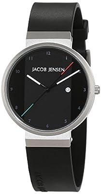 Jacob Jensen Unisex-reloj Jacob Jensen NEW Series Item NO, 732 analógico de cuarzo de caucho Jacob Jensen NEW Series Item NO, 732 de JACOB JENSEN
