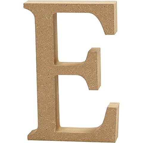 Creativ Deko-Buchstabe E aus MDF, 13x 2cm,