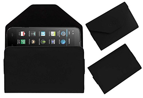 Acm Premium Pouch Case For Micromax Canvas Power A96 Flip Flap Cover Holder Black  available at amazon for Rs.179
