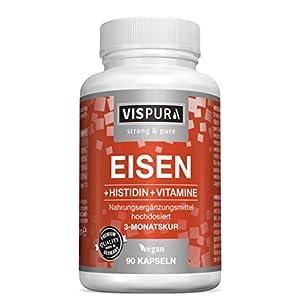 Eisen Vitamin C Tabletten vegan Komplex vispura