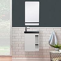 Lave-Mains Hampton + Miroir L40 cm avec Tablette Noire