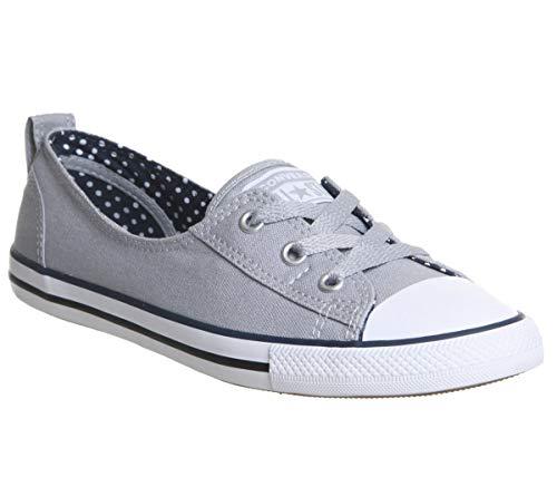 Converse Chuck Taylor Damen Hausschuhe, Grau - Wolf Grey Navy White - Größe: 4 UK (Converse Frauen 4)