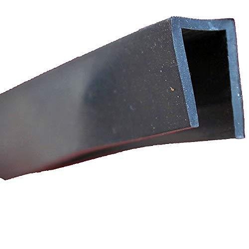 EUTRAS Kantenschutz 1947 Fassungsprofil FP3009 Kantenschutz Dichtungsgummi-Spaltmaß 7,0 mm, Schwarz, 3 m