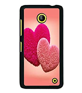 printtech Cute lovely Heart Couple Back Case Cover for Nokia Lumia 630