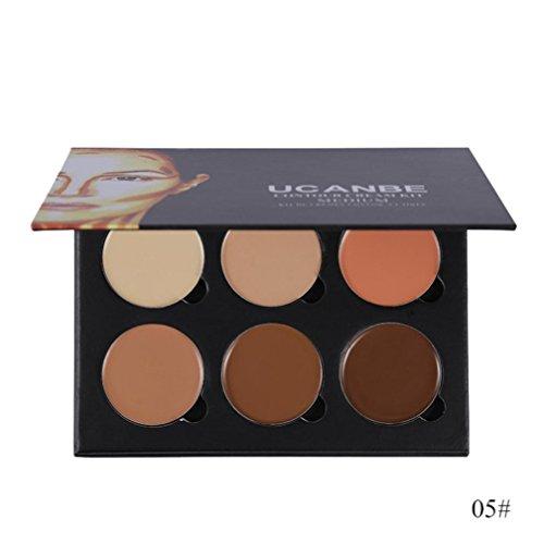 Huihong 6 Farben Concealer Palette Make-up Kosmetik-Set Kit (Sticks Sie Markieren Haar)