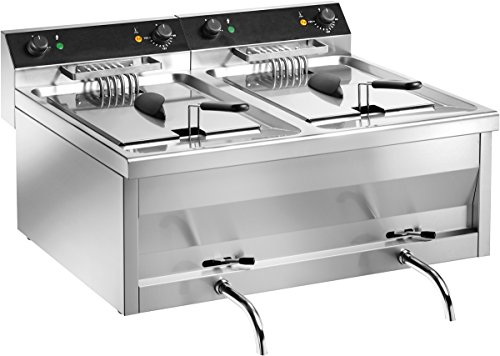 Gam Gastro Doppel Friteuse Frf212 18000 Watt 400 Volt Edelstahl Ablasshahn Neu