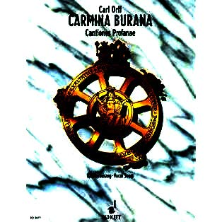 Carmina Burana Cantiones profanae - Besetzung: Soli (STBar), gemischter Chor (SATB), Kinderchor und Orchester · Ausgabe: Klavierauszug · Sprache: lateinisch - mittelhochdeutsch - alAufführungsdauer: 65' 0'' · Kompositionsjahr: 1936 · Schwierigkeit: 3 · 128 Seiten - Broschur Verlag: Schott Music · Bestell-Nr.: ED 2877 · ISMN: 979-0-001-04014-3 · ISBN: 978-3-7957-5338-2 Uraufführung: 8. Juni 1937 Städtische Bühnen Frankfurt/M - Klavierauszug - [ Noten / Sheetmusic ] - mit herzförmiger Notenklammer (0-chor)