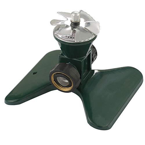 Aspersor de césped: sistema de riego automático por aspersión giratorio de 360   grados, aspersor...