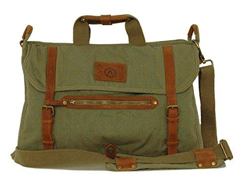 Umhängetasche, Schultertasche passend für Laptop und Arbeitsmappe von Kakadu Australia Grün