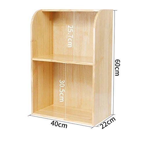 ZMSJ-YJ Bücherregal/Schreibtisch Holz Bücherregal Schüler Kind einfach Desktop kleine Bücherregal Lagerregal Büro kleine Bücherregal Bücherregal (Farbe : 4)