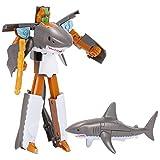 osmanthusFrag Trasformatore Robot Action Figure Shark Dolphin Forma Bambino pedagogico Giocattolo 2#