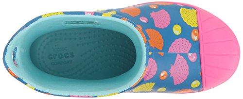 crocs Mädchen 203516 Gumboots Blau (Ocean Multi)