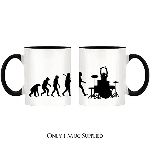 Evolution of a Drummer Design Two-Tone Mug with Black Handle & Inner by 1StopShops