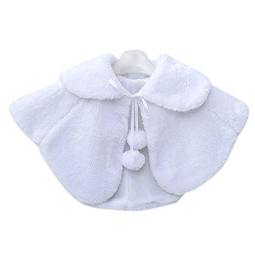 Schulter Cape (Zantec Prinzessin Cape Schulter Mantel ,Mädchen Winter Jacke Brautjungfer Schal mit niedlichen Pompons)