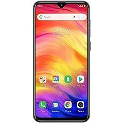 Ulefone Note 7 (2020) Smartphone Pas Cher Triple Caméras 8M+2M+2M Ecran Waterdrop 6,1 Pouces, Face ID, Nano+Micro+TF Android 9.0 Téléphone Portable Débloqué, 1 Go + 16 Go, Batterie 3500mAh (Noir)