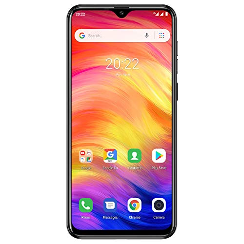 Ulefone Note 7 (2019) Smartphone Pas Cher Triple Caméras 8M+2M+2M Ecran Waterdrop 6,1 Pouces, Face ID, Nano+Micro+TF Android 9.0 Téléphone Portable Débloqué, 1 Go + 16 Go, Batterie 3500mAh (Noir)