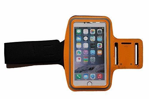 Sport-armband Orange, Fitness-hülle Running Handy Tasche Case für Apple ipod touch g iphone 3 4 5 S C, Samsung Galaxy 3 und 4 mini, Huawei Y330, Nokia Lumia 530, 532 mit Kopfhöreranschluss -Dealbude24 (Orange)